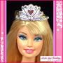 Linda Coroa Para Barbie Princesa / Rainha - Serve Para Susi