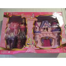 Castelo Boneca Com Barbie - Toca Música E Acende Luz Cod 08