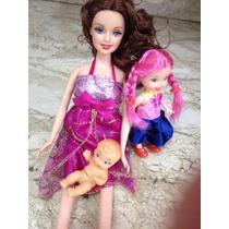 Boneca Babie Grávida Com Bebê Filhinha Acessórios Barriga