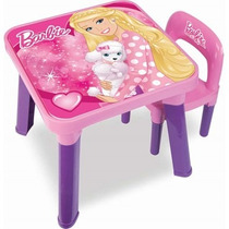 Mesa Com Cadeira Barbie Bb6000 Fun