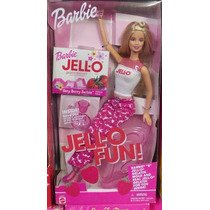 Barbie Jell-o Fun Gelatina Antiga 90 Com Acessórios Cozinha