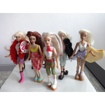 Lote 5 Mini Barbie Coleção Mc Donalds
