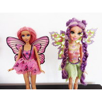 2 Fadas Barbie Roxa Rosa Magia Do Arco-íris Fairytopia
