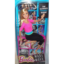 Boneca Barbie Made To Move Barbie - Brinquetoys