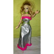 Boneca Barbie Com Roupa De Festa Chique Original Mattel