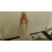 Boneca Barbie Mattel Noiva 1998 Com Roupa, Sem Caixa
