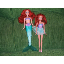 Kit 2 Bonecas Ariel A Pequena Sereia E A Bailarina