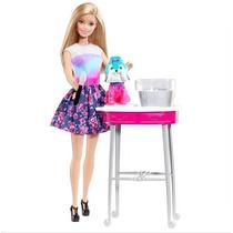 Barbie - Barbie Family - Cão Banho De Cores - Mattell