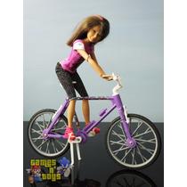 Boneca Skipper Com Bicicleta Irmã Da Barbie Mattel