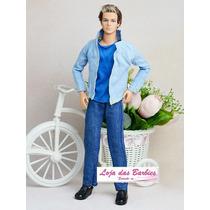 Roupa Fashion Para O Boneco Ken ( Barbie ) + Sapatinho !