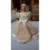Boneca Barbie Com Vestido De Princesa Antigo Original Castel
