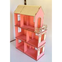 Casa Da Barbie Medidas 76,00 X 49,00 X 21,00 - Rosa E Branca