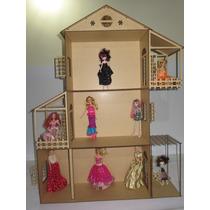 Casinha Para Boneca Barbie + 22 Moveis