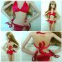 Roupa Para Boneca Barbie Biquíni De Crochê