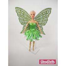 Vestido Fantasias P/ Barbie, Lindas Fadinhas Fada Com Asas