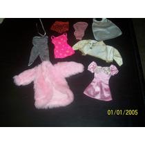 Lote 05 De Roupas P/ Barbie Estrela Mattel