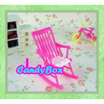Linda Cadeira De Balanço De Bebê P/ Boneca Barbie