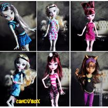 Vestido P/ Boneca Monster High : Roupa Original + Brinde !