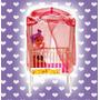 Lindo Berço Com Bebê (+ Mosquiteiro) Para Barbie - Susi