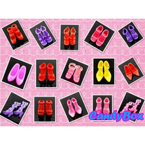 Super Promoção!lote C/ 10 Pares Sapato P/ Barbie - Sapatinho