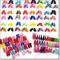 Lote Com 10 Sapatos Para Bonecas Barbie Susi * Sapatinhos