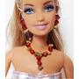 Joia Bijuteria Boneca Barbie -brinco Colar/pulseira Oriental