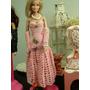 Vestido Longo De Crochê Para Barbie E Bonecas Similares