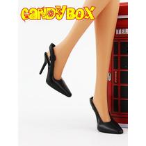 Sapatinho De Luxo Para Barbie : Sapato Preto Clássico