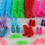 Kit 9 Botas Sandálias Saltos Sapatinhos Para Boneca Barbie