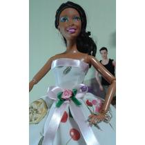 Lote De 10 Vestidos P/bonecas Barbie