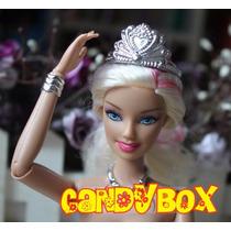 Linda Coroa De Princesa Para Boneca Barbie Ou Susi