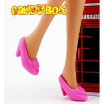 Sapato De Luxo Para Boneca Barbie * Sapatinho Rosa Delicado