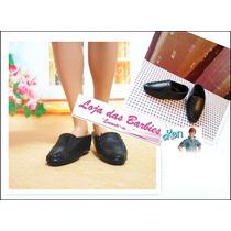 Sapato Social Para O Ken ( Barbie ) - Sapatinho Preto Novo