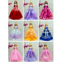 Mega Lote * 10 Vestidos Para Boneca Barbie + 20 Sapatinhos
