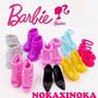 Kit Com 10 Pares De Sapatos Super Luxo Para Boneca Barbie