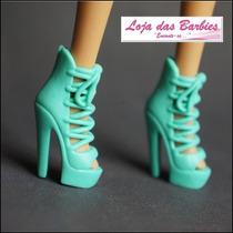 Botas Para Boneca Barbie * Botinha Sapato Sapatinho Mattel