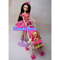 Lindo Carrinho De Bebê (+ Bebê) P/ Boneca Barbie - Susi