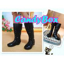 Sapato Para Boneco Ken ( Barbie ) - Bota Preta