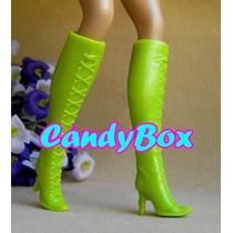Sapato De Luxo P/ Barbie : Sapatinho - Bota Verde