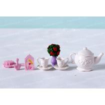 Conjunto De Chá Para Boneca Barbie * Blyhte Princesa Disney