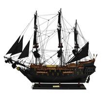 Miniatura Fragata Black Pearl Grande Em Madeira