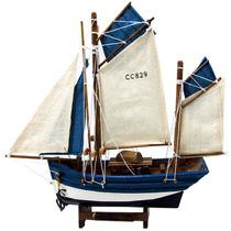 Barco De Pesca Médio Les Thoniers 1908 Em Madeira