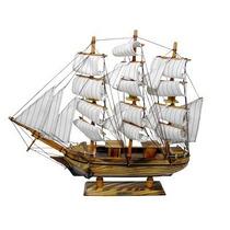 Miniatura Decorativa Trabalhada Caravela Barco Madeira C13