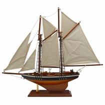 Miniatura Veleiro Caravela Classica Em Madeira 41cm