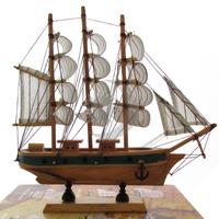 Barco Caravela Decorativo 24cm Réplica Em Madeira
