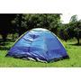 Barraca Camping T20 3 Pessoas Acampamento Azul / Amarelo