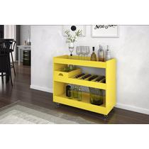 Aparador Bar Adega Jb 4030 Amarelo Movz Moveis