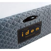 Base Cama Box C/ Baú Idea Casal Cinza 1,38 X 1,88cm - Herval