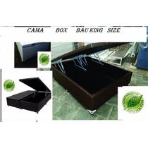 Cama Box Baú King Size 30cm Profu.s/colchão