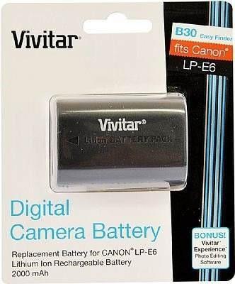 Bateria Vivitar Lp-e6 Para Canon 5d 60d 70d 6d 7d 2000mah